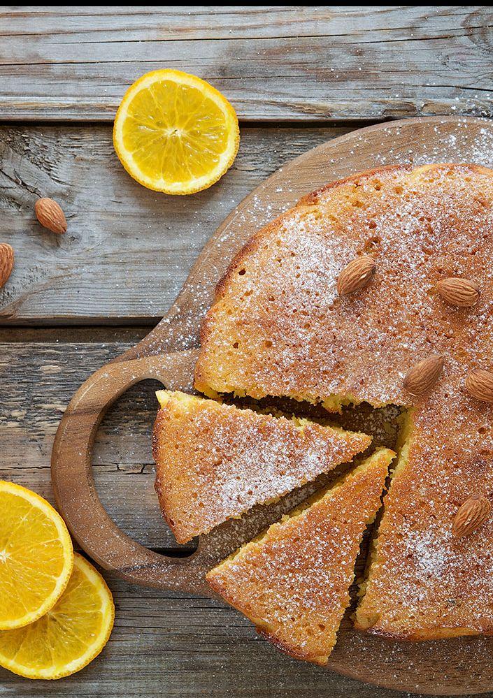 Sinaasappel-amandel-oranjebloesemcake