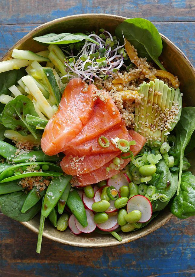 Sushi bowl zalm
