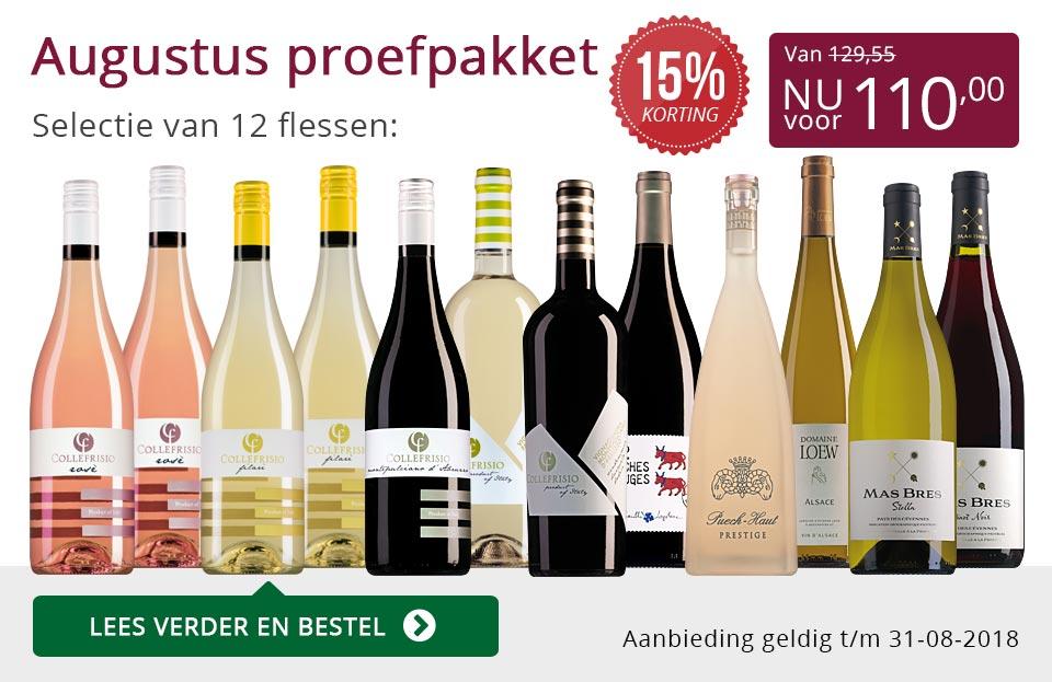 Proefpakket wijnbericht augustus 2018 (110,00) - paars