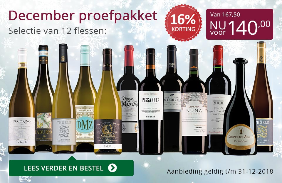 Proefpakket wijnbericht december 2018 (140,00) - paars