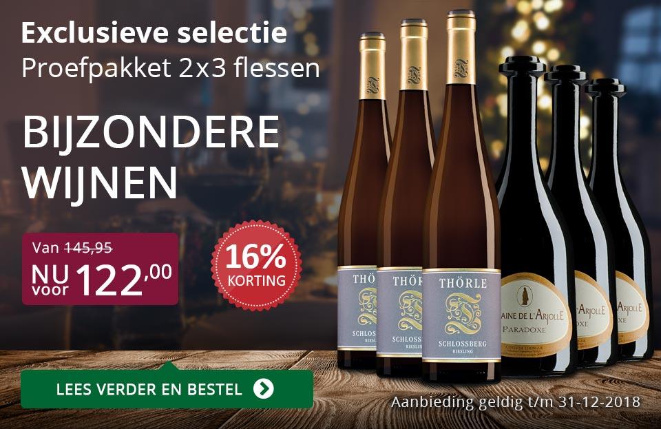 Proefpakket bijzondere wijnen december 2018 (122,00) - paars
