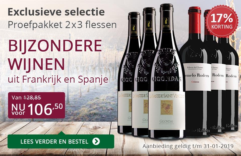 Proefpakket bijzondere wijnen januari 2019 (106,50) - paars