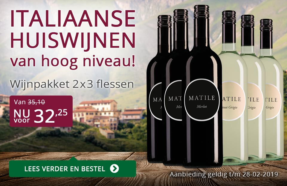 Wijnpakket Matile februari 2019 - paars