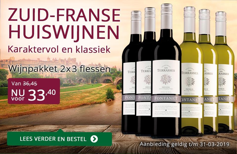 Wijnpakket Fontanet maart 2019 - paars