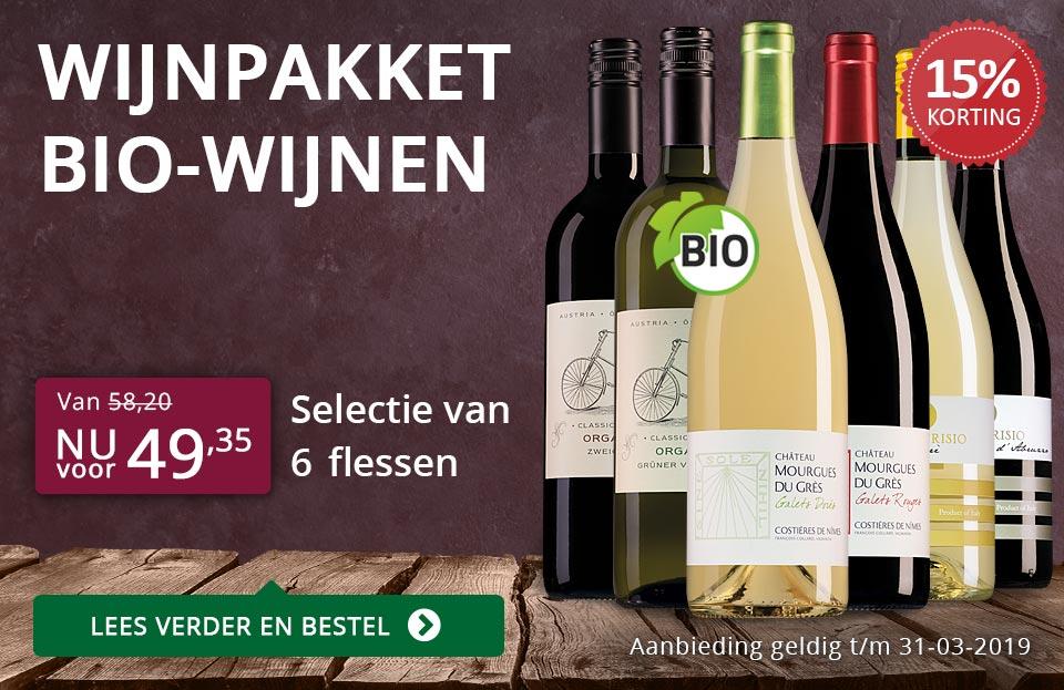 Wijnpakket BIO (49,35) - paars