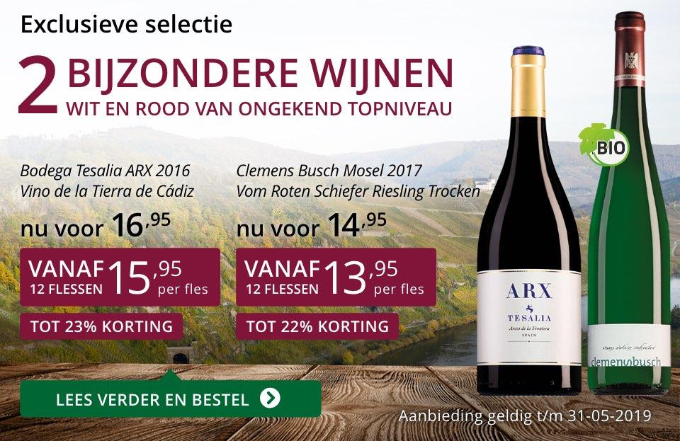 Twee bijzondere wijnen mei 2019- paars