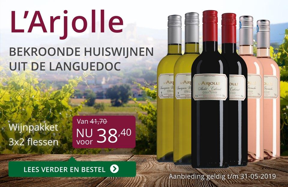 Wijnpakket L'Arjolle mei 2019 (38,40) - paars