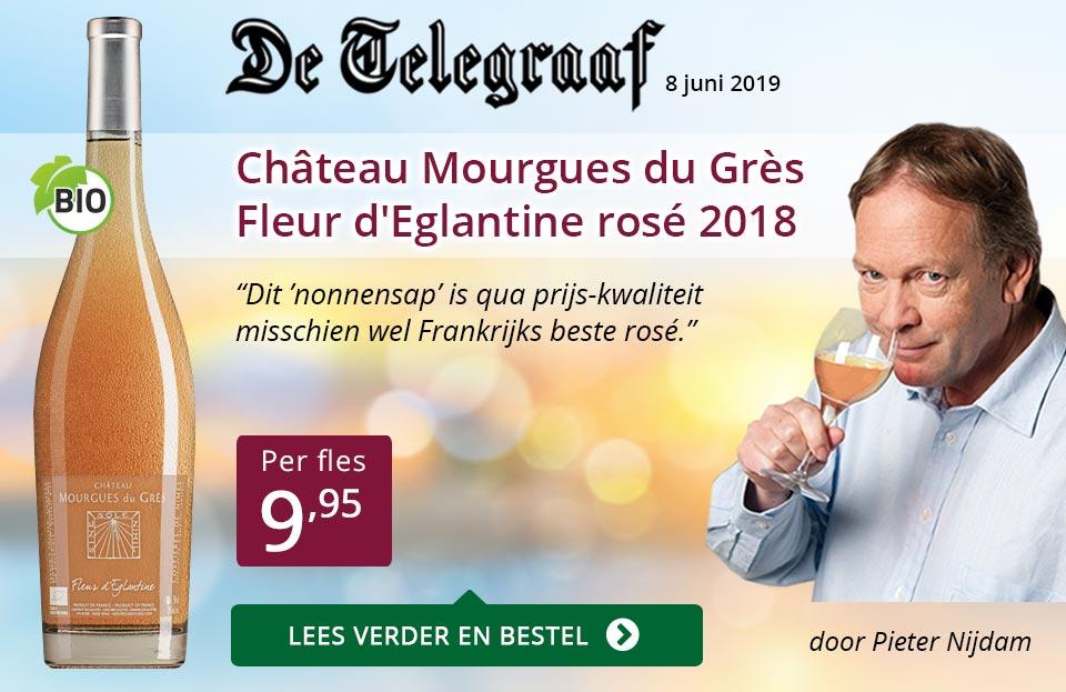 Telegraaf vermelding - Mourgues du Gres ZP - paars