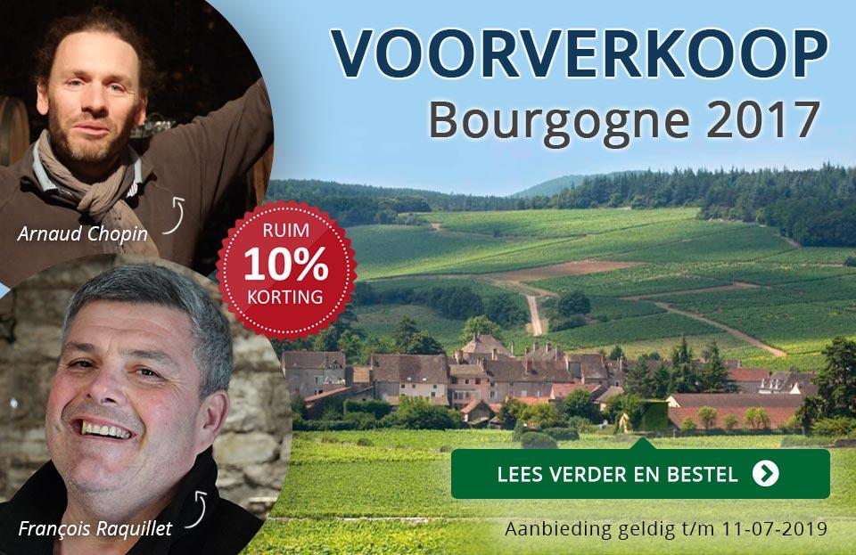 Voorverkoop Bourgogne 2017 - Raquillet en Chopin - blauw