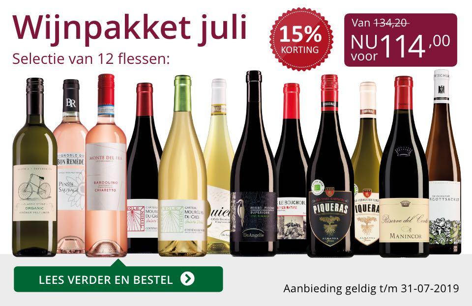 Wijnpakket wijnbericht juli 2019 (114,00)- paars