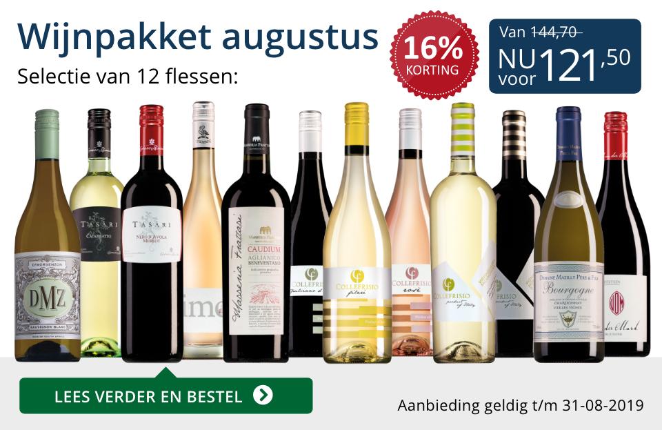 Wijnpakket wijnbericht augustus 2019 (121,50) - blauw