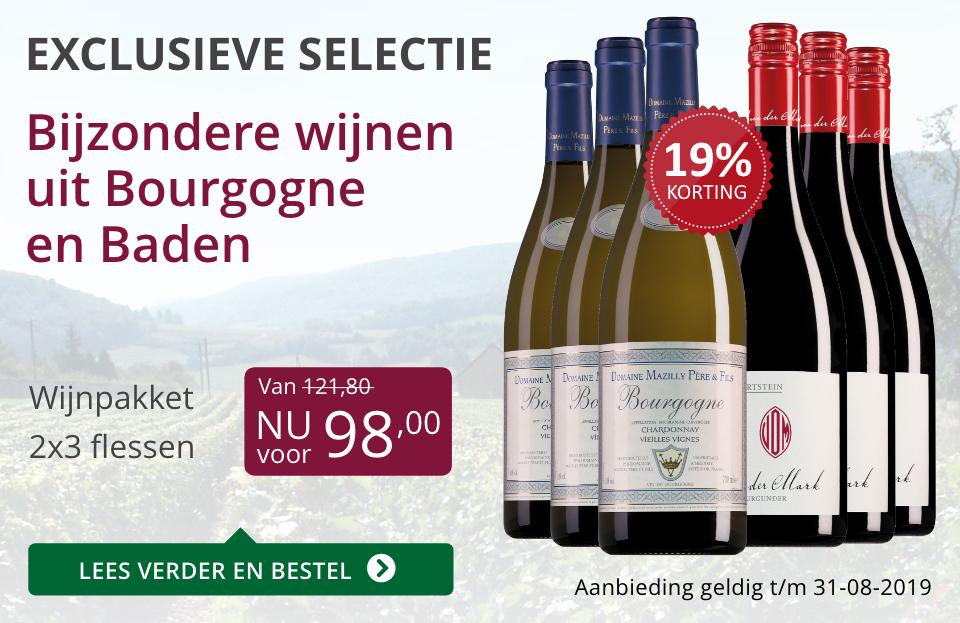 Wijnpakket bijzondere wijnen augustus2019 (98,00) - paars