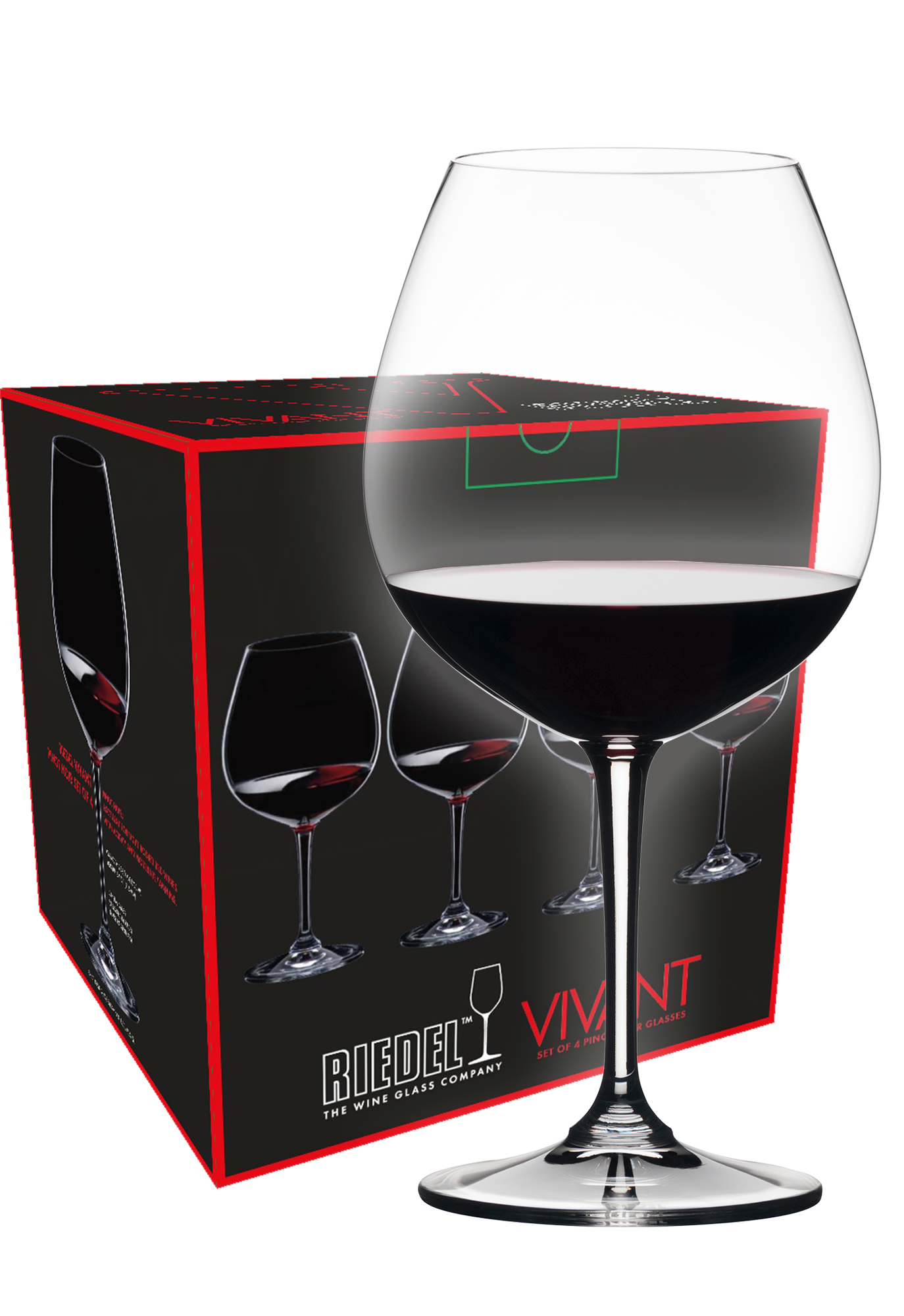 Riedel Vivant Pinot Noir wijnglas (set van 4 voor € 34,80)