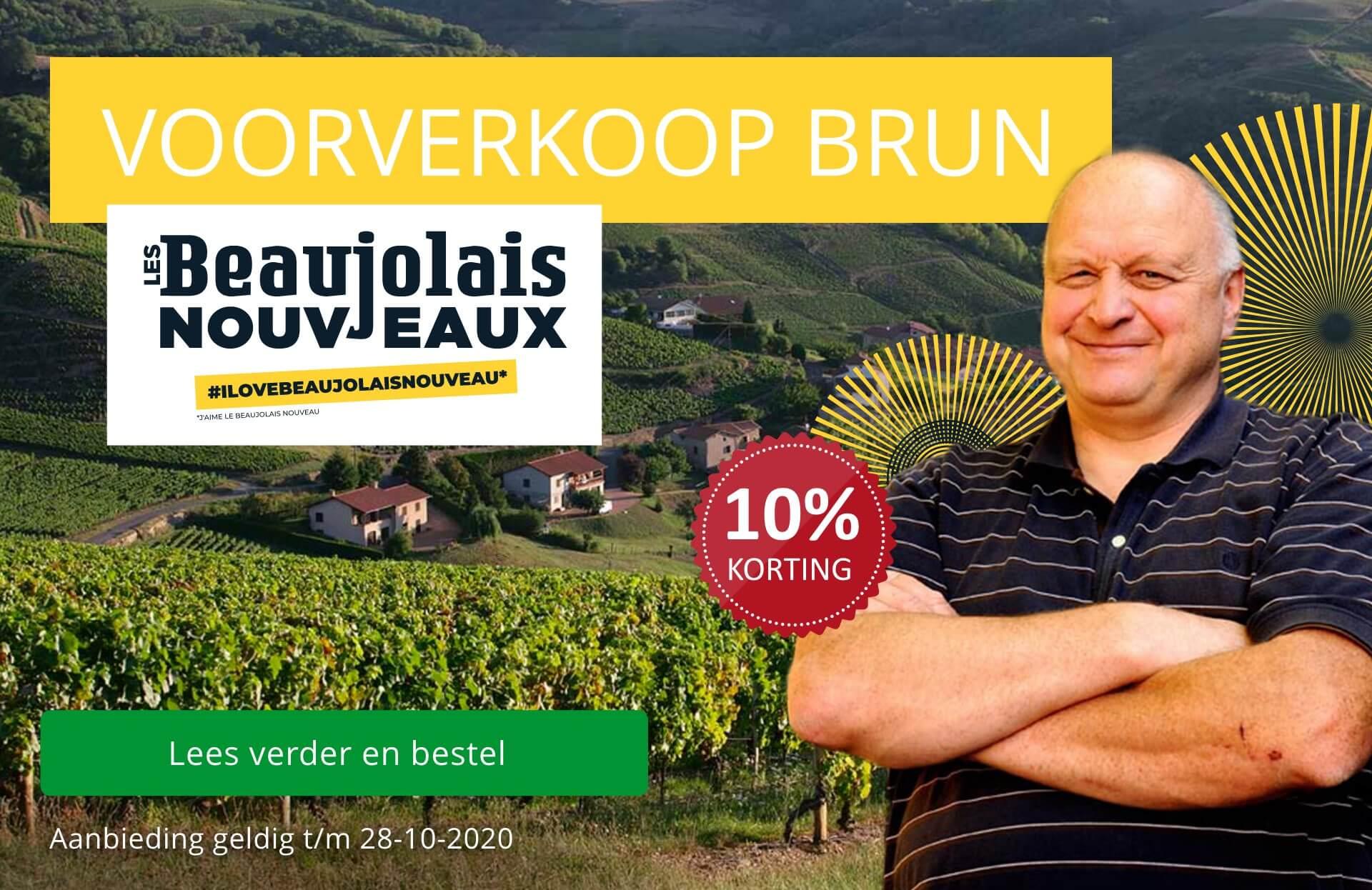 Voorverkoop Beaujolais Nouveau 2020 van Jean-Paul Brun