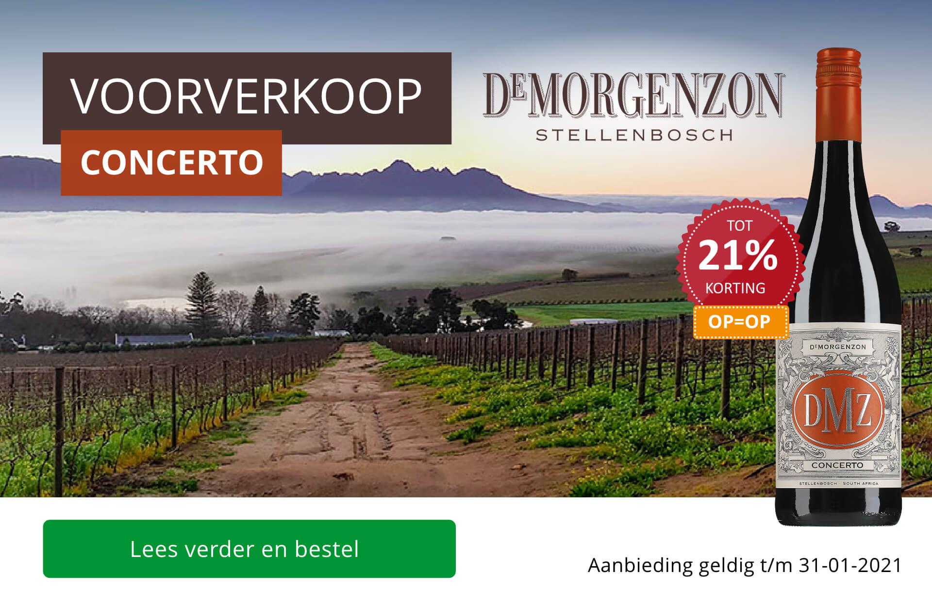 Voorverkoop unieke Limited Release DeMorgenzon