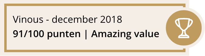 Vinous - december 2018 91/100 punten | Amazing value