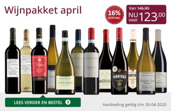 Wijnpakket wijnbericht april 2020(123,00)-paars